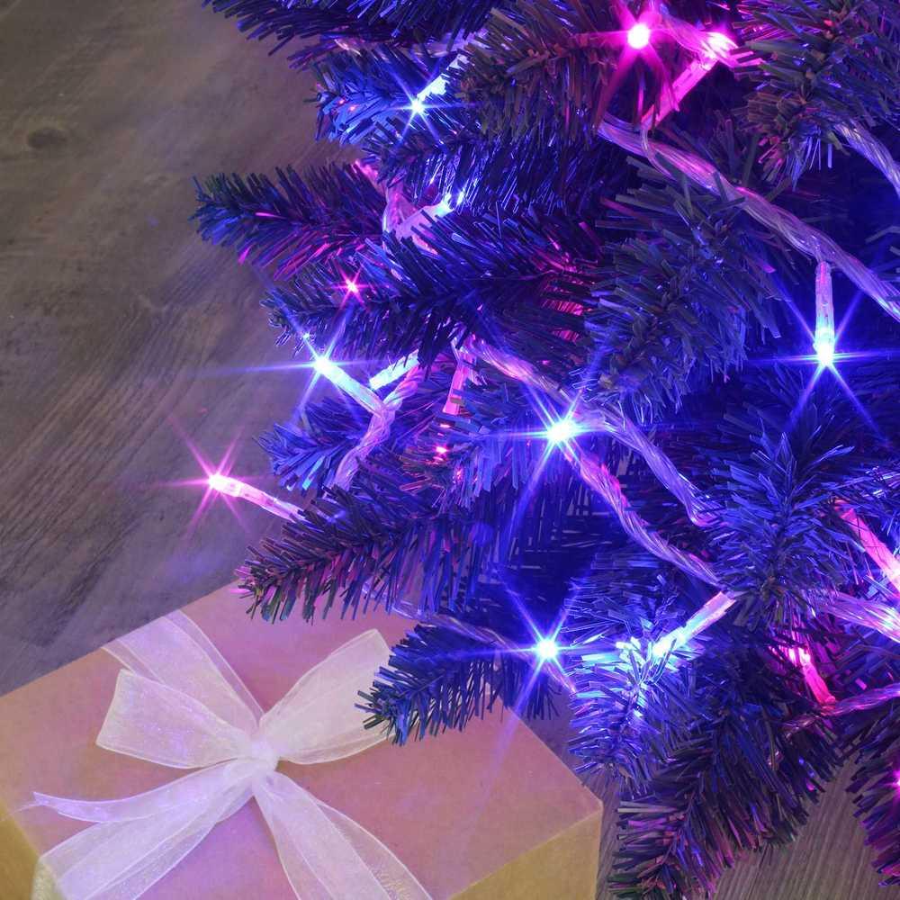 Guirlande flicker light ® led bleu & rose - 8,00 m