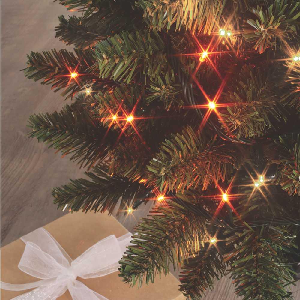 Guirlande flicker light ® led orange & blanc chaud - 8,00 m