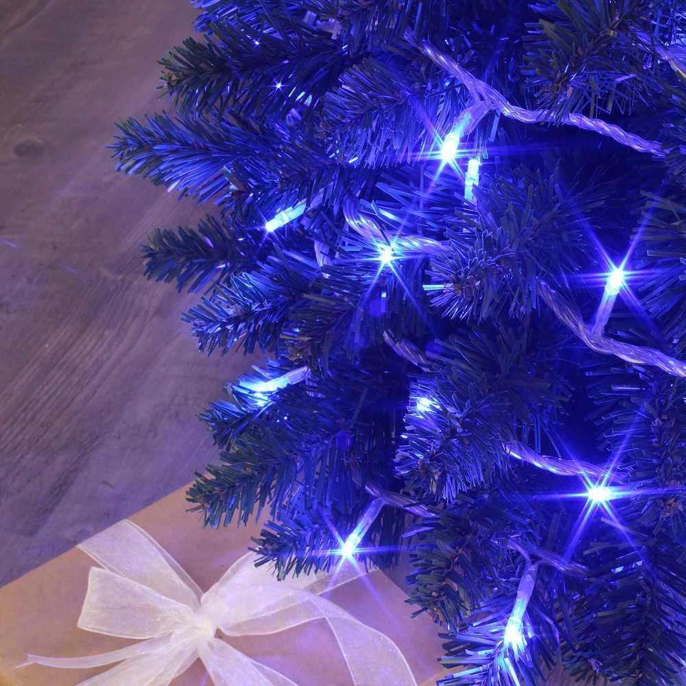 Guirlande flicker light ® led bleu - 8,00 m