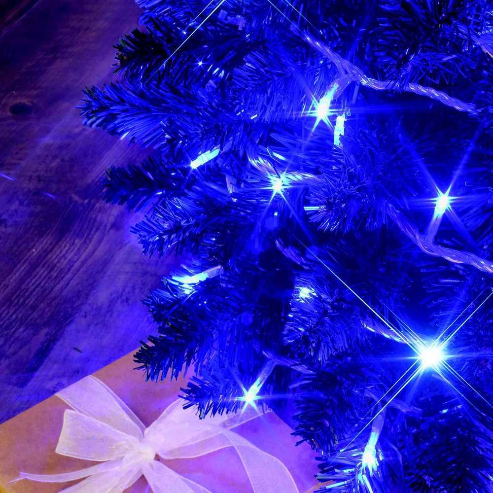 Guirlande flicker light ® led bleu + flash blanc pur - 8,00 m mod. A