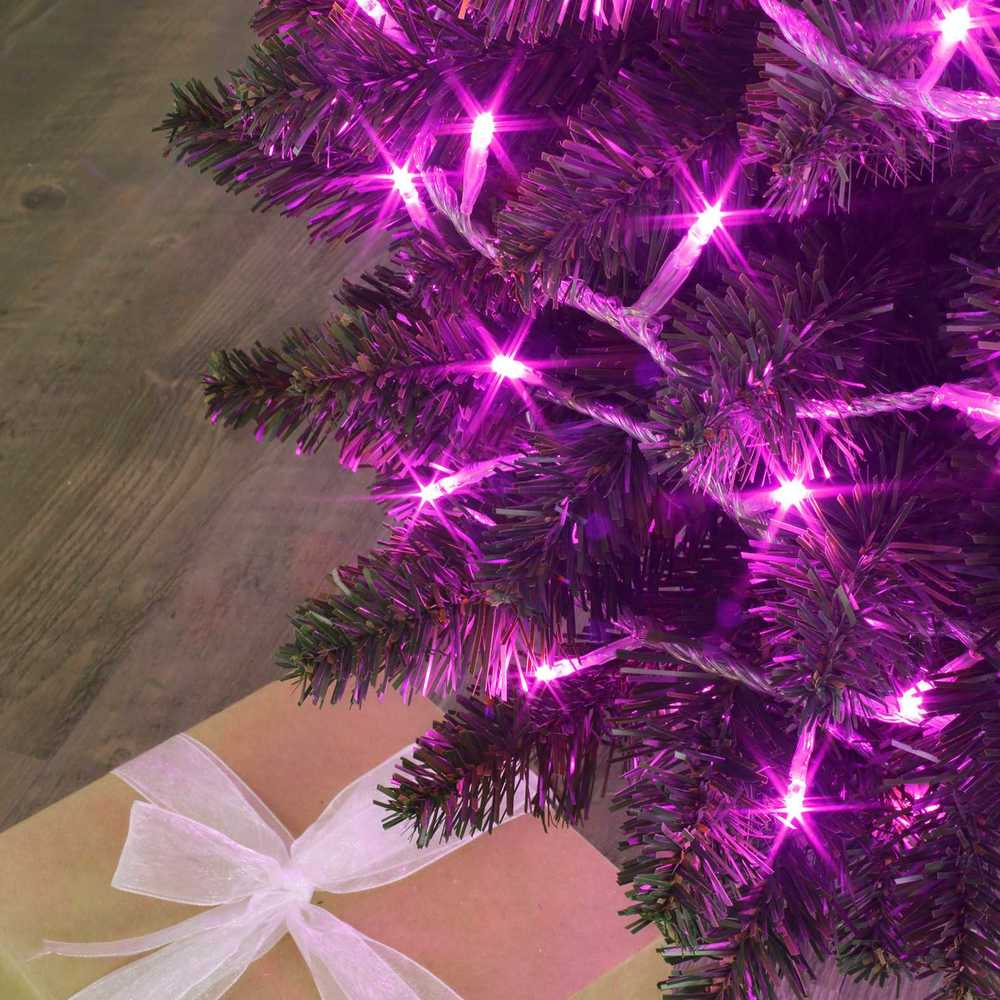 Guirlande flicker light ® led rose - 8,00 m mod. B