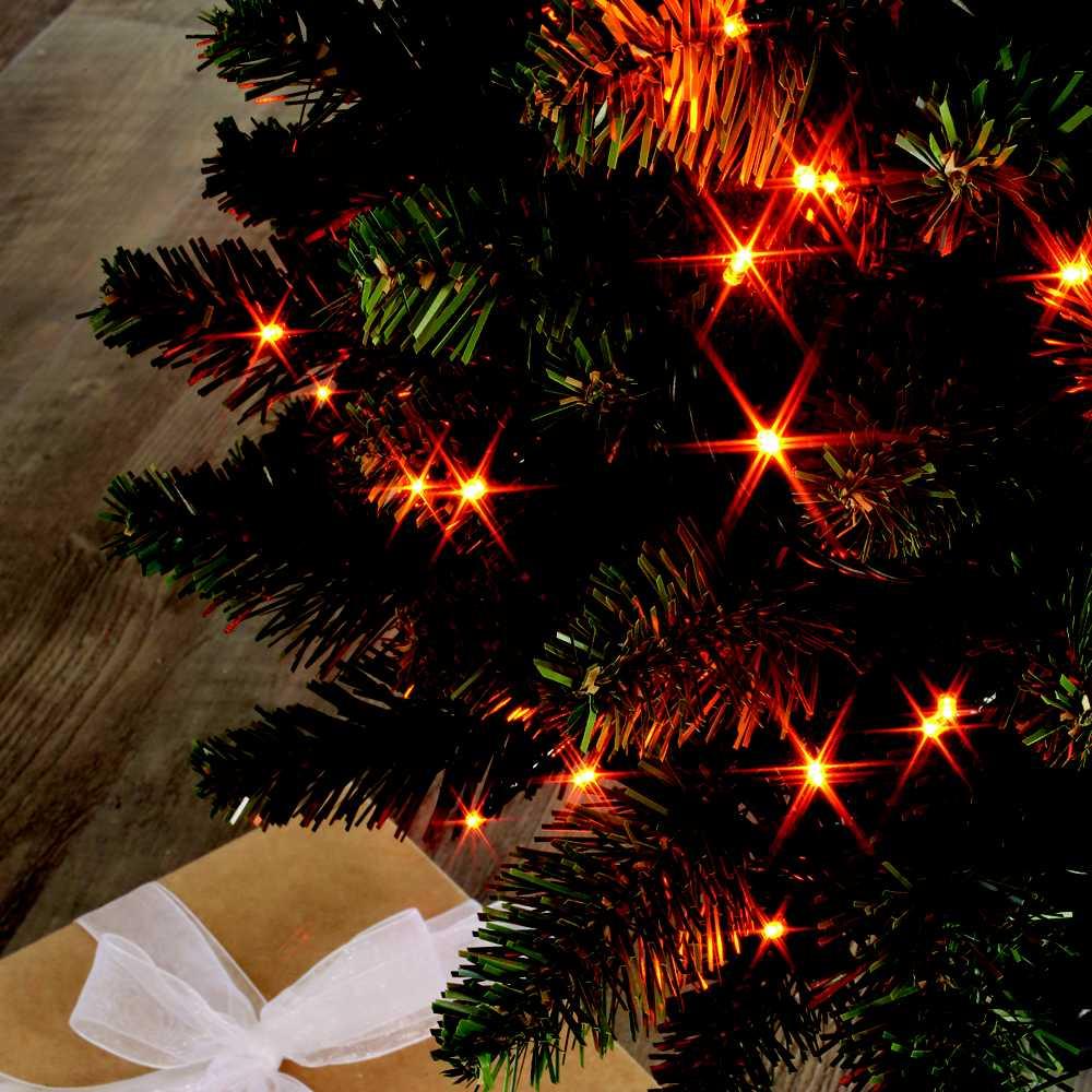 Guirlande flicker light ® led orange + flash blanc pur - 8,00 m
