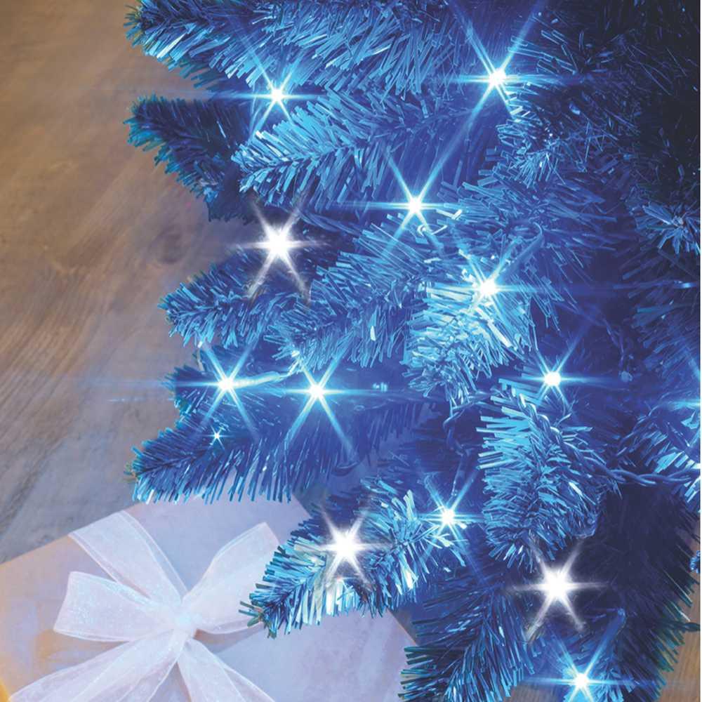 Guirlande flicker light ® led bleu + flash blanc pur - 8,00 m mod. B