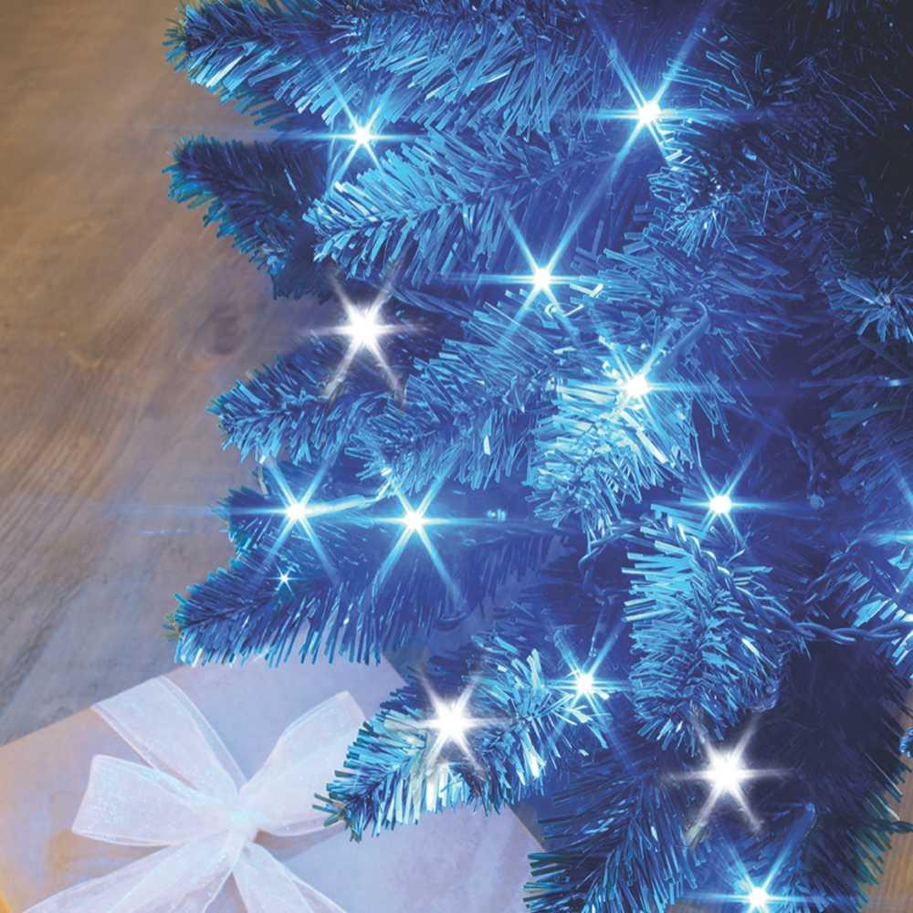 Guirlande flicker light ® led bleu + flash blanc pur - 16,00 m