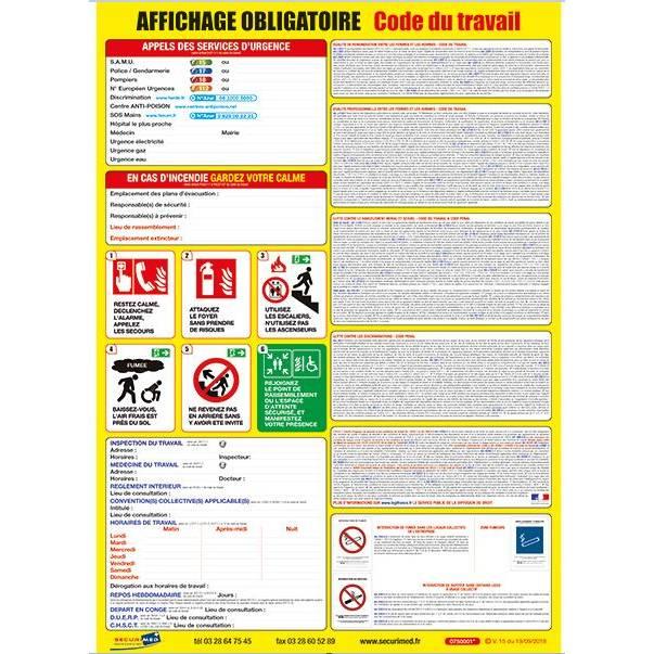 Affiche Code du travail