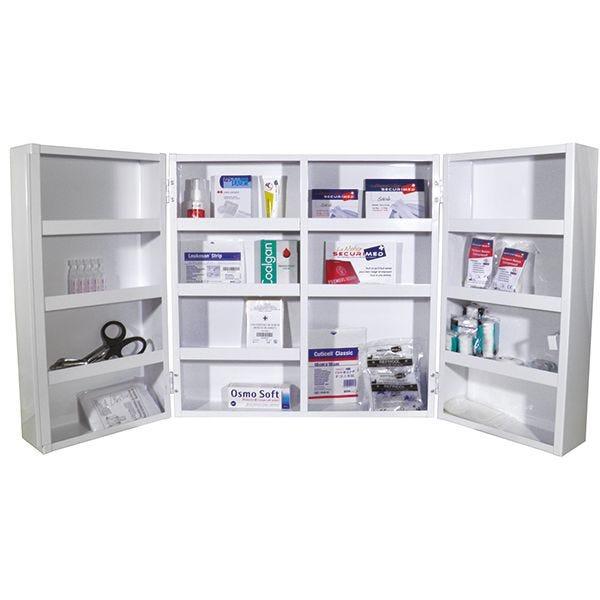 Armoire à pharmacie medi basic 2 portes - garnie (photo)