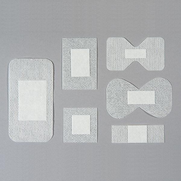 Pansements assortis en non-tissé blanc 100 pièces