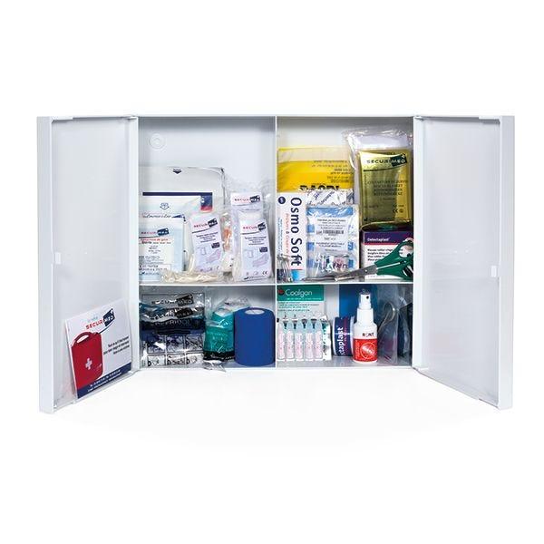 Armoire à pharmacie alimentaire abs 2 portes - garnie (photo)