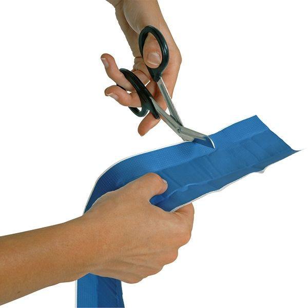 Pansement bleue détectable en bande à découper tissée 8cmx25m