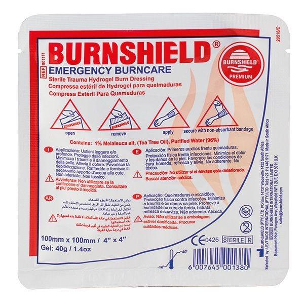 Compresse hydrogel brûlure thermique burnshield® 10x10cm