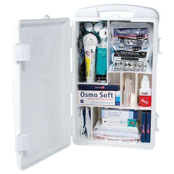 Armoire à pharmacie pvc transportable - garnie (photo)