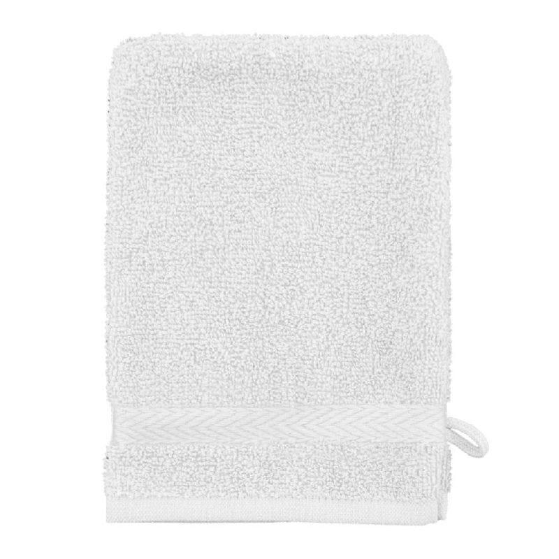 Gant de toilette eponge 16x21cm blanc - 500g/m² - par 10
