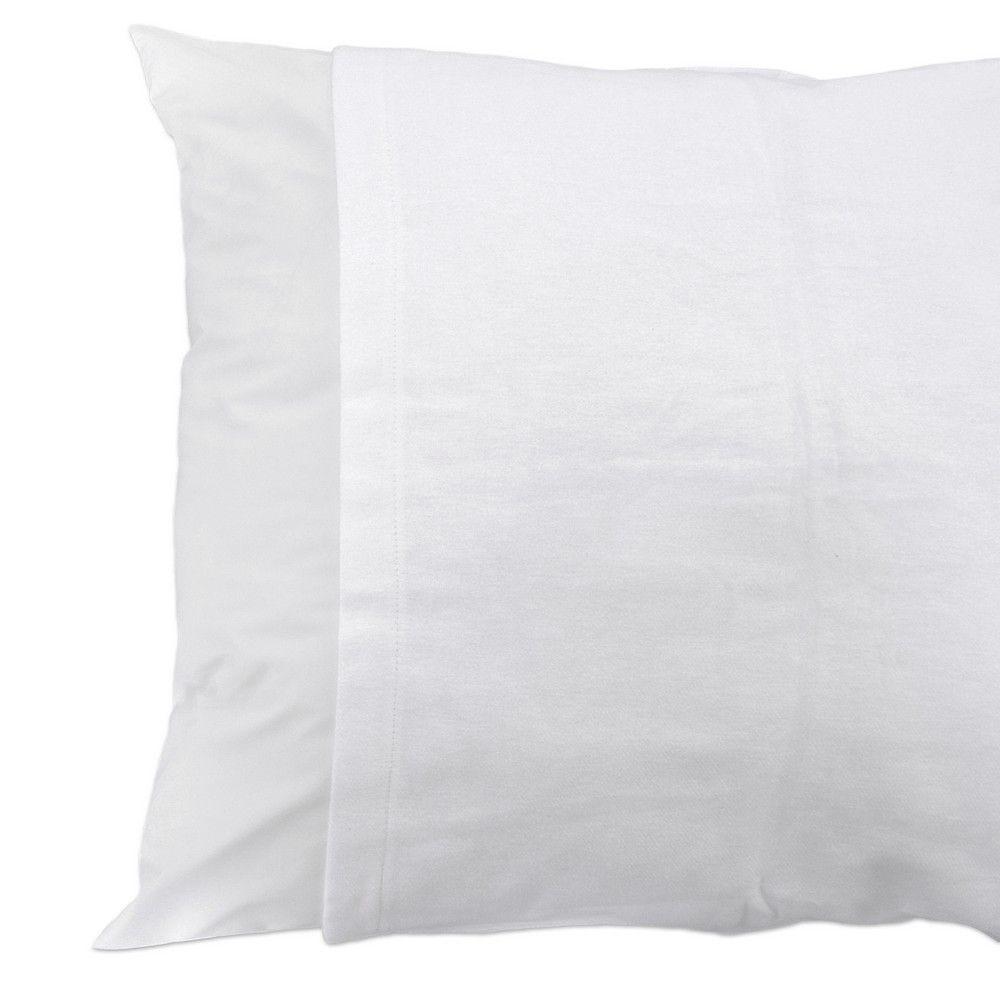 Sous taie o. Imper 60x60cm blanc - 200g/m² - par 2 (photo)
