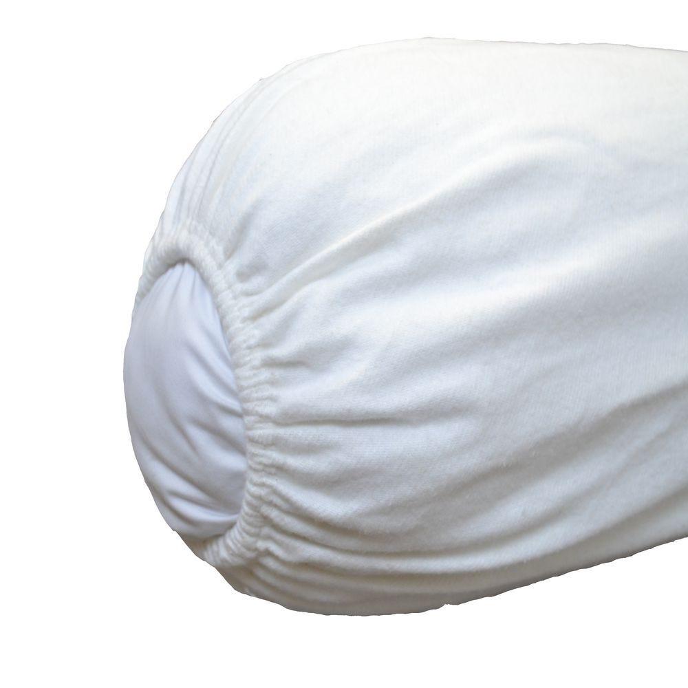 Sous taie t. 40x140cm blanc - 200g/m² - par 2 (photo)