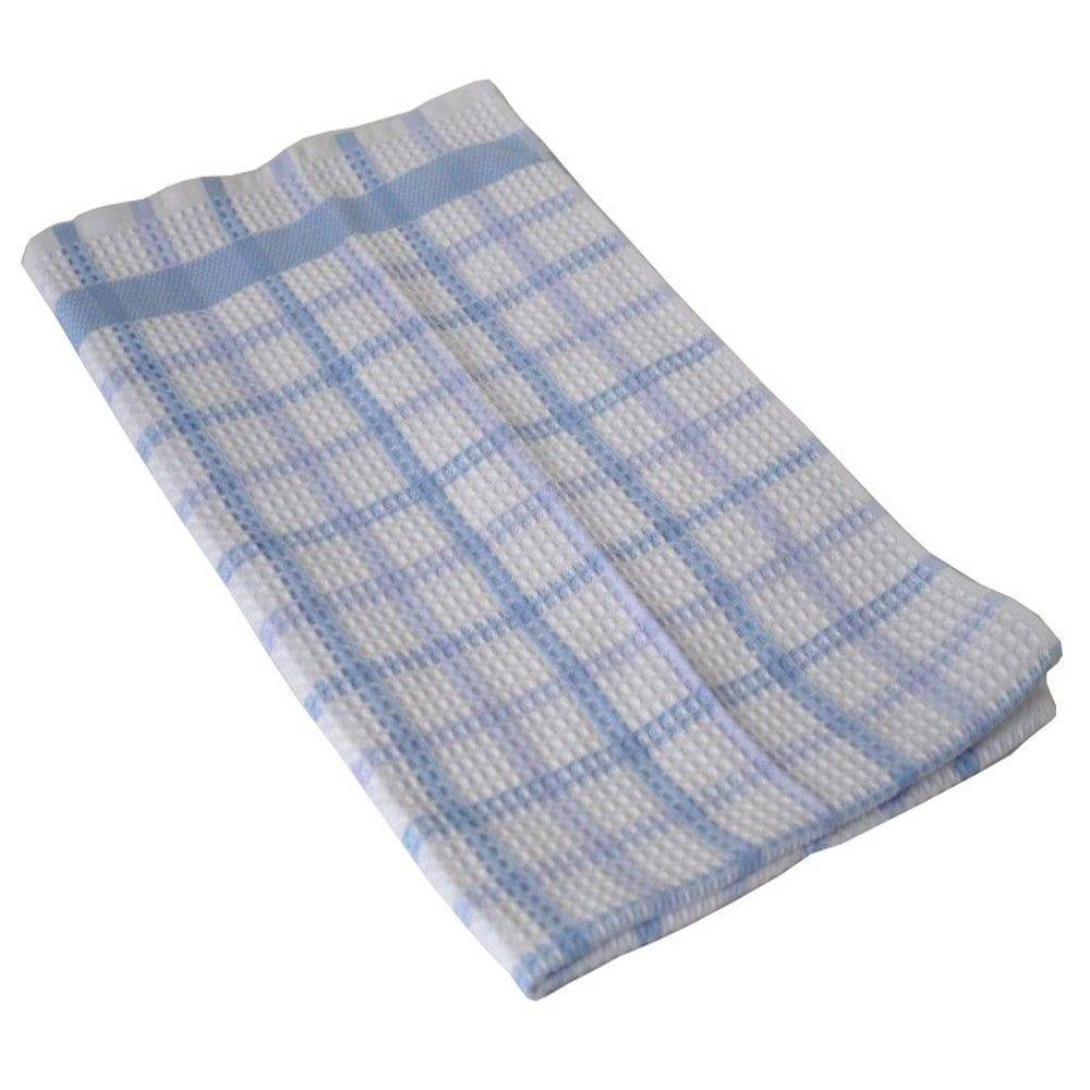 Torchons serviette alvex 52x90cm bleu - 270g/m² - par 5 (photo)