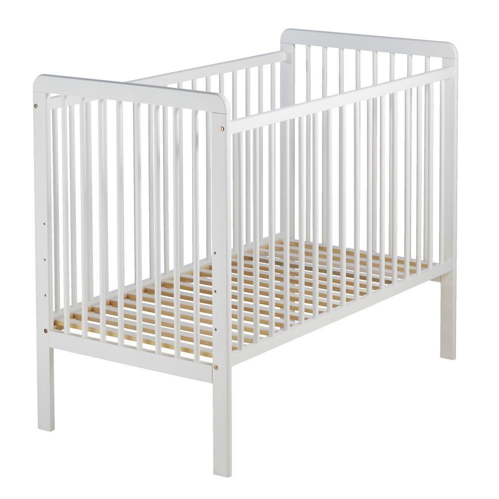 Lit bébé fidji 60x120cm blanc (photo)