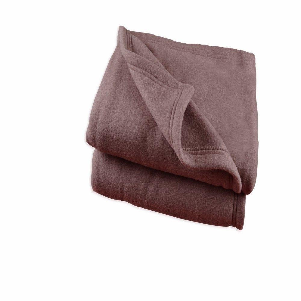 Couverture polex 220x240cm chocolat - 350g/m²