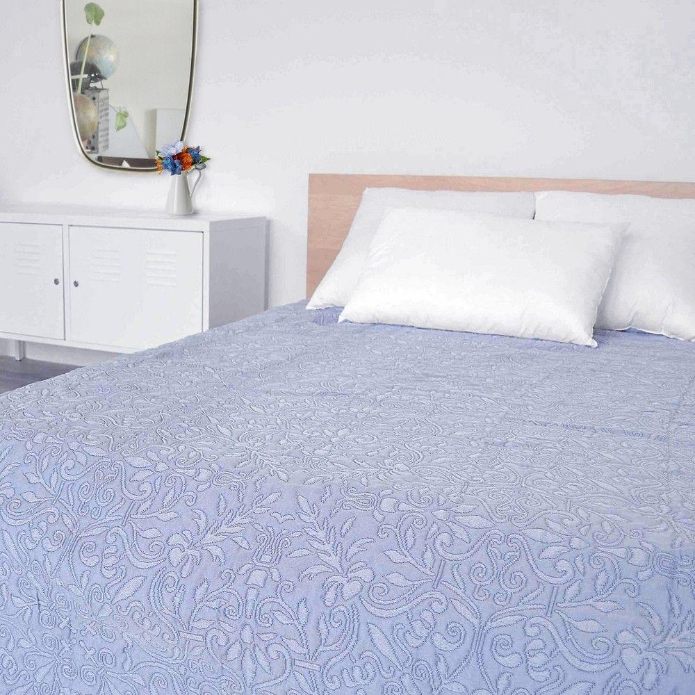 Couvre-lit verone 220x260cm bleu - 300g/m² (photo)