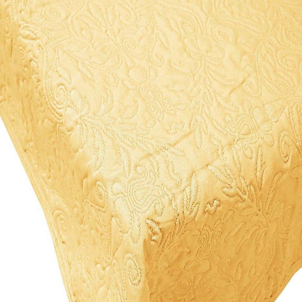 Couvre-lit verone 220x260cm jaune - 300g/m² (photo)