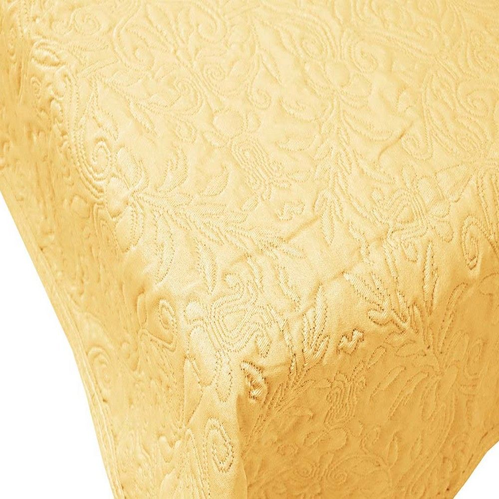Couvre-lit verone 260x280cm jaune - 300g/m² (photo)