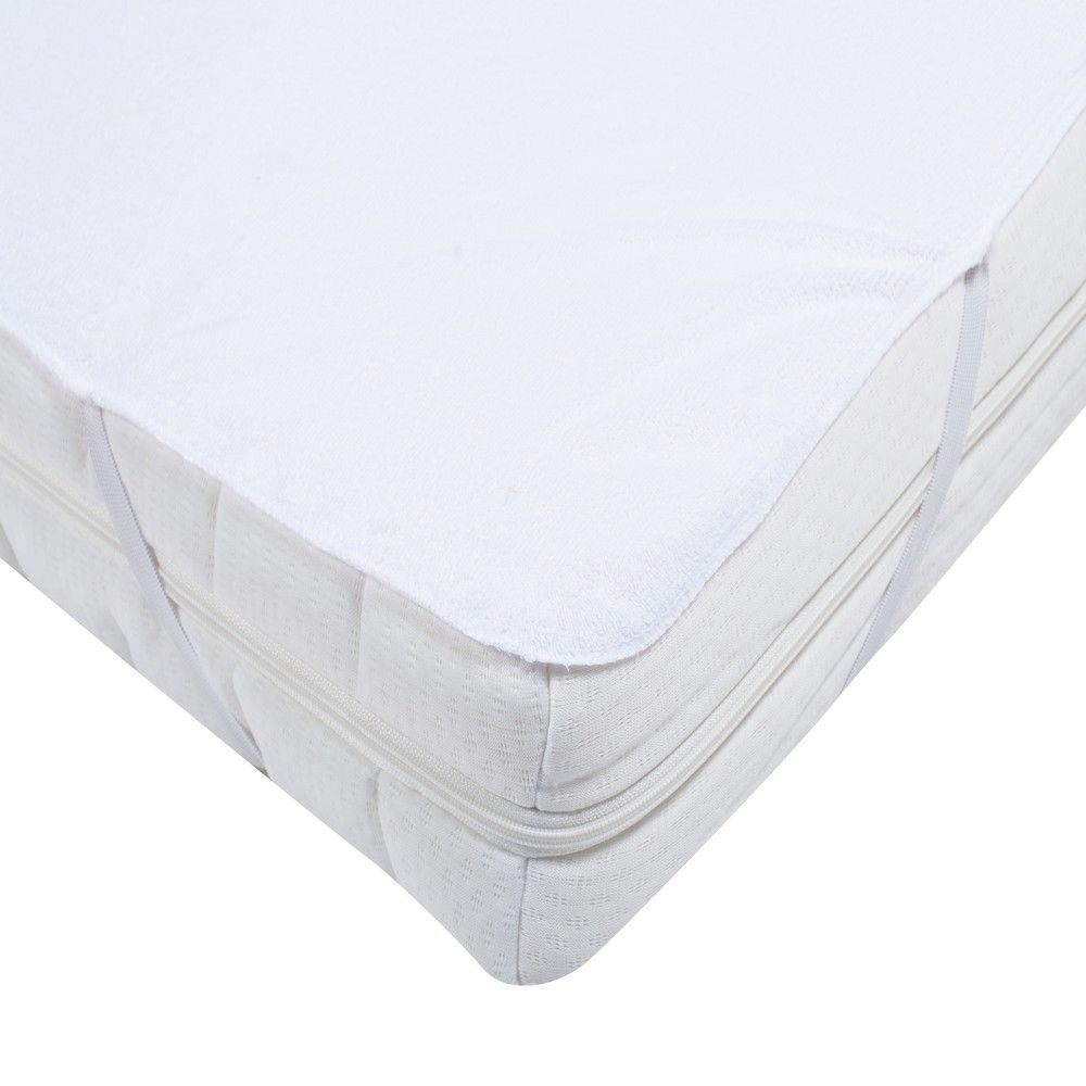 Alèse elasretane 90x190cm blanc - 180g/m²