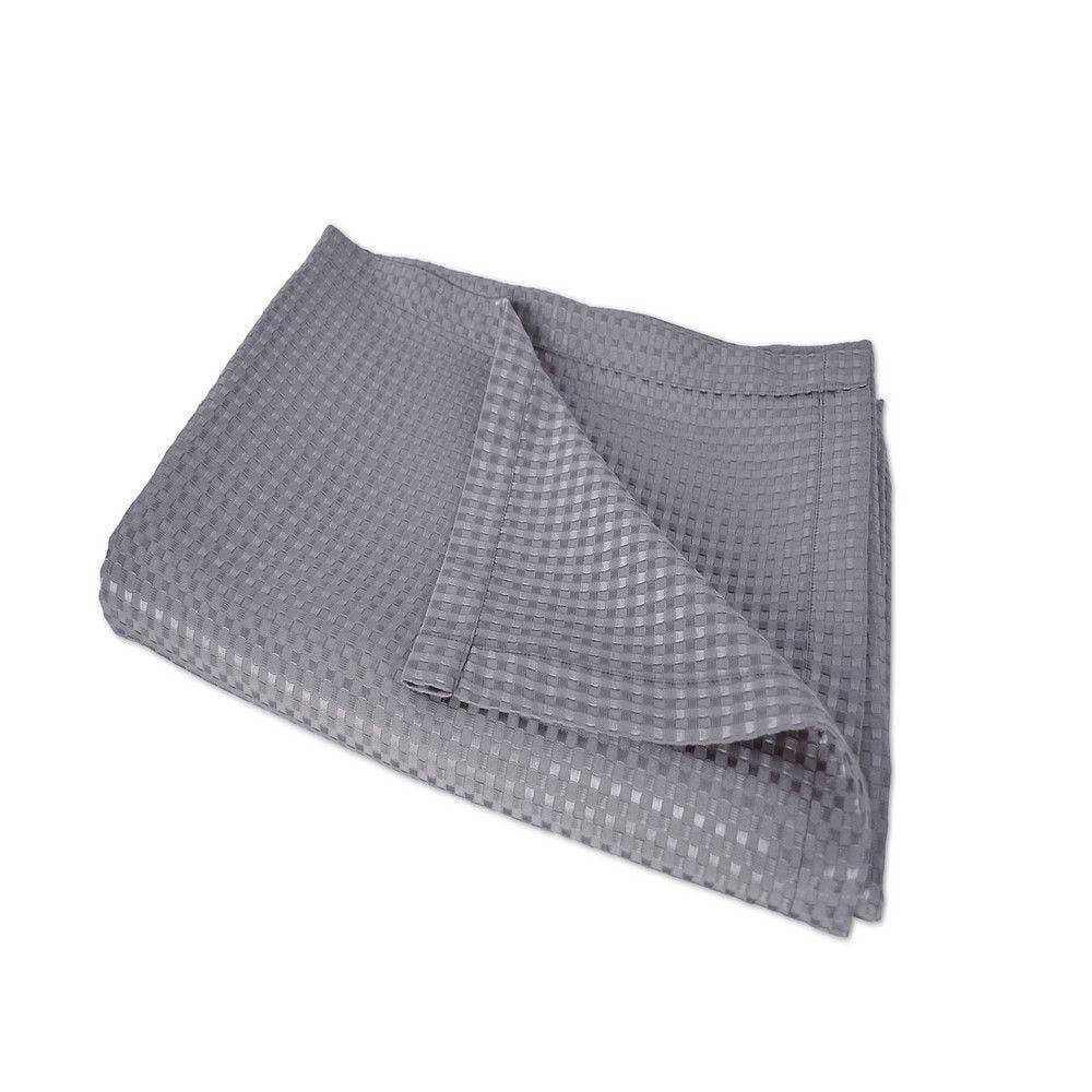 Couvre-lit lisieux 230x260cm gris - 240g/m² (photo)