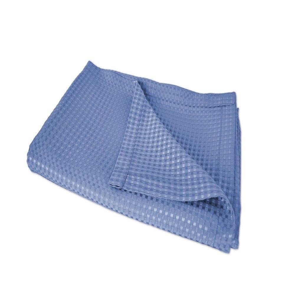 Couvre-lit lisieux 230x260cm bleuet - 240g/m² (photo)