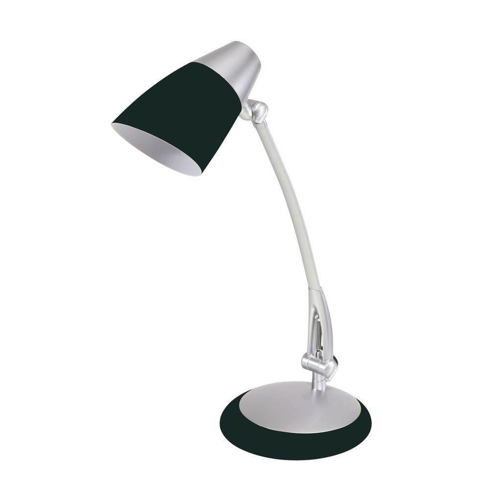 Lampe fluorescente de bureau fluofit noir avec abat jour (photo)