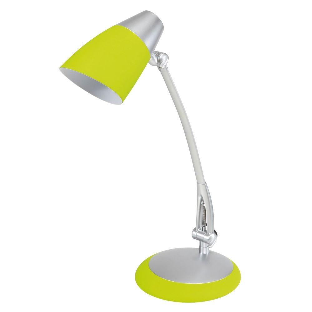 Lampe fluorescente de bureau fluofit vert anis avec abat jour (photo)