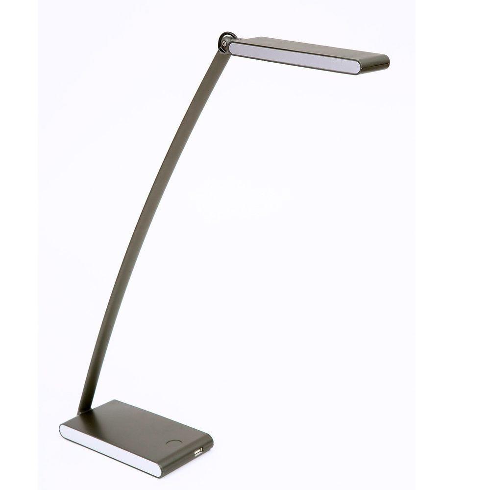 Lampe led de bureau allumage tactile port usb 5w 400 lumens - coloris noir (photo)