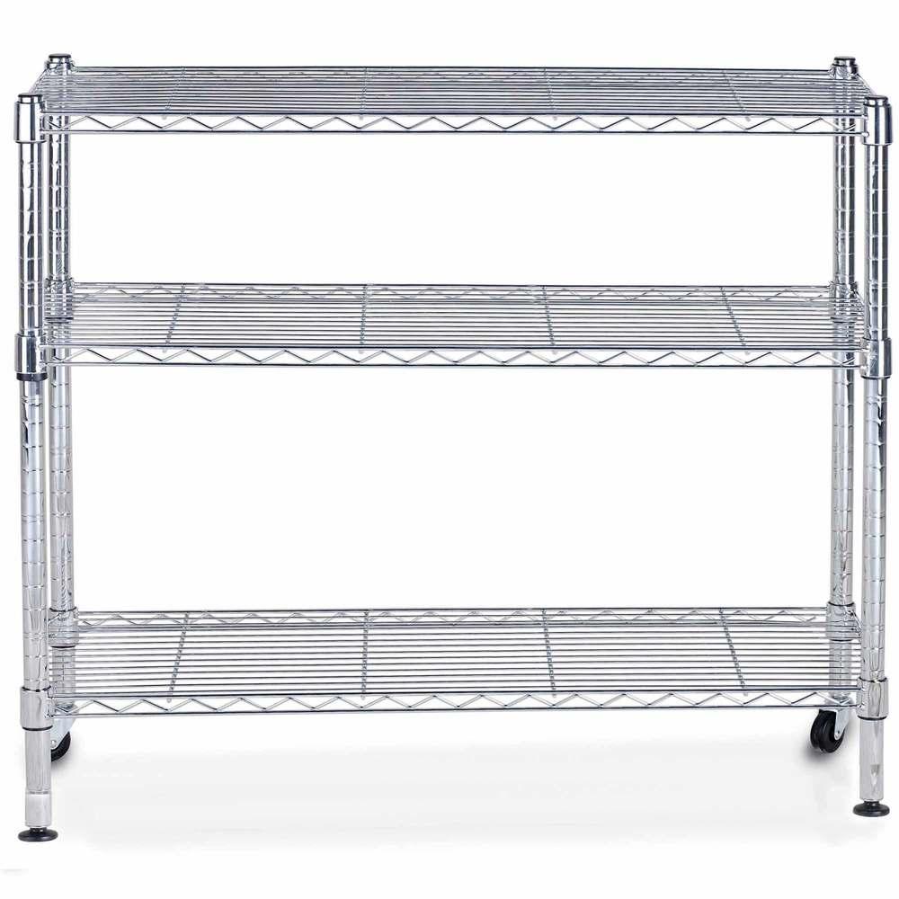 Etagère chrome multifonction 3 niveaux largeur : 120cm