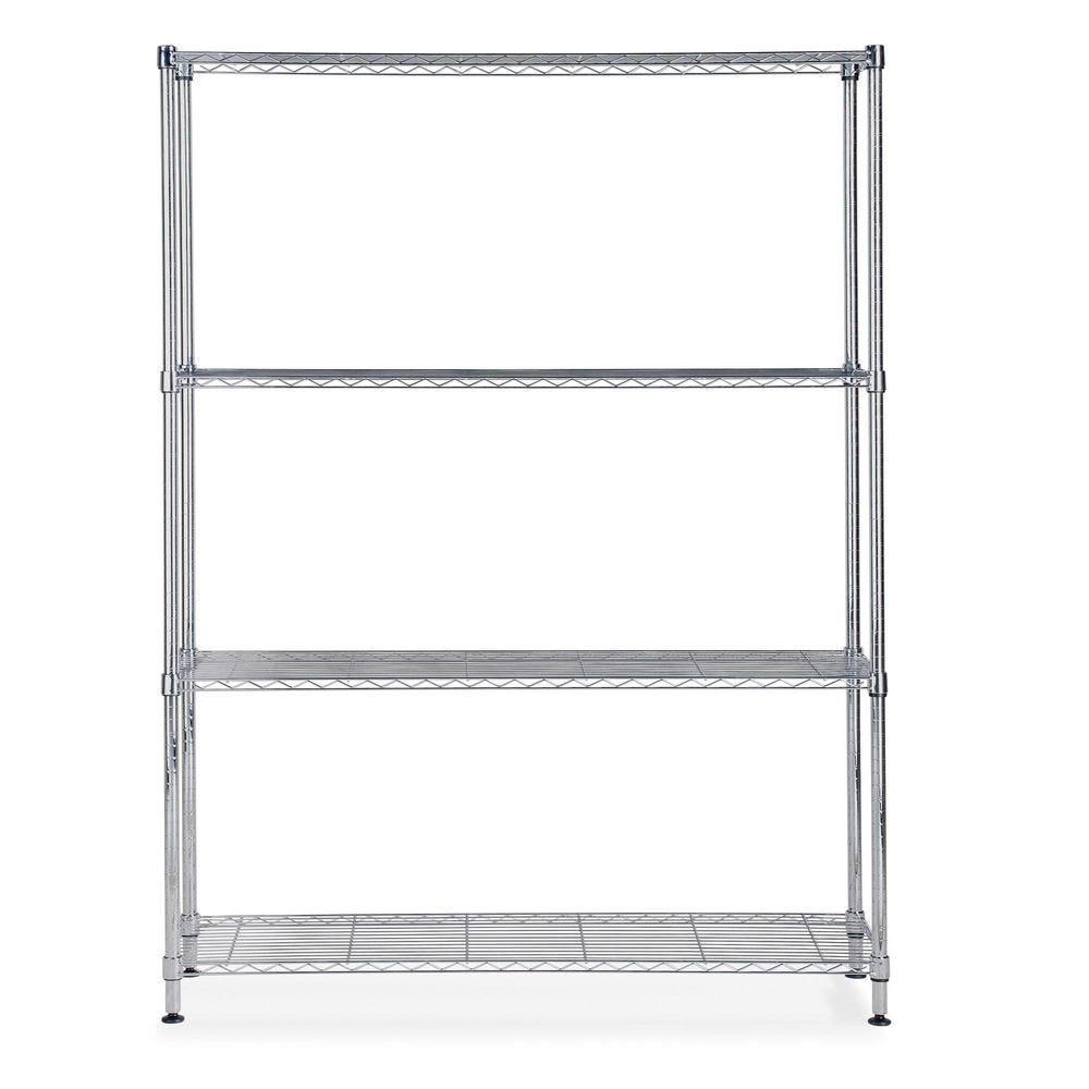 Etagère chrome multifonction 4 niveaux largeur: 120cm