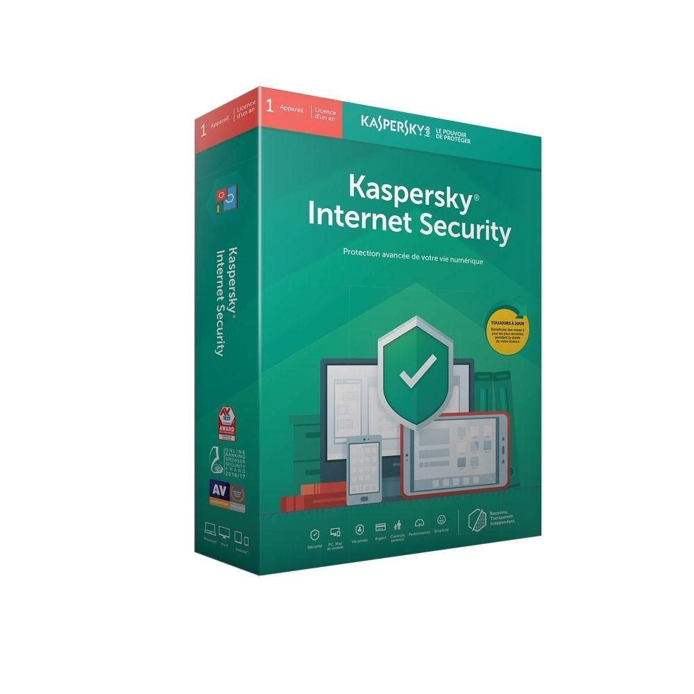 Kaspersky Internet Security - 1 poste - 1 an - Windows, Mac et android