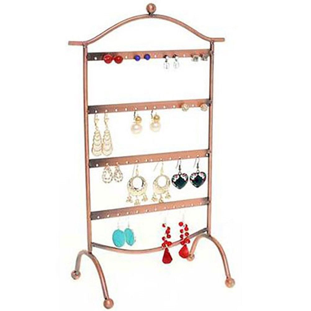 Porte bijoux cadre présentoir boucle d'oreille door (24 paires) cuivre (photo)