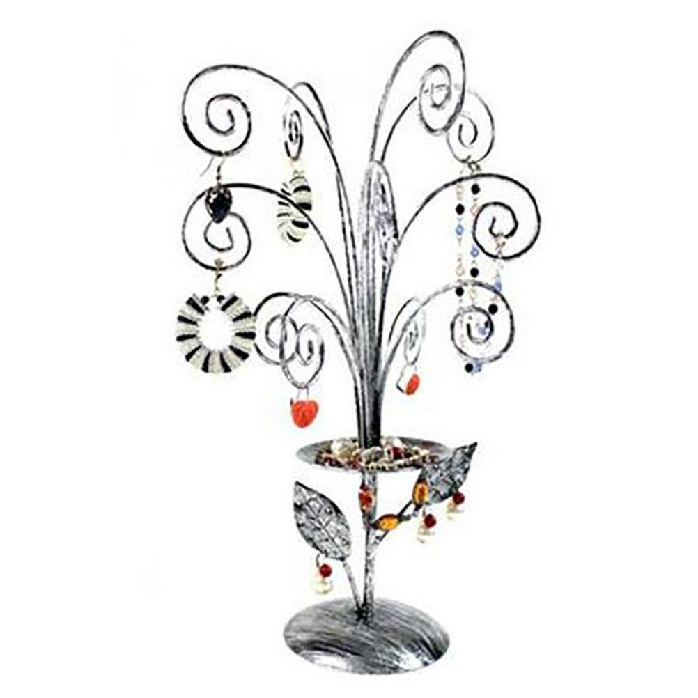 Porte bijoux arbre à bijoux décoratif mixte fireworks. Gris
