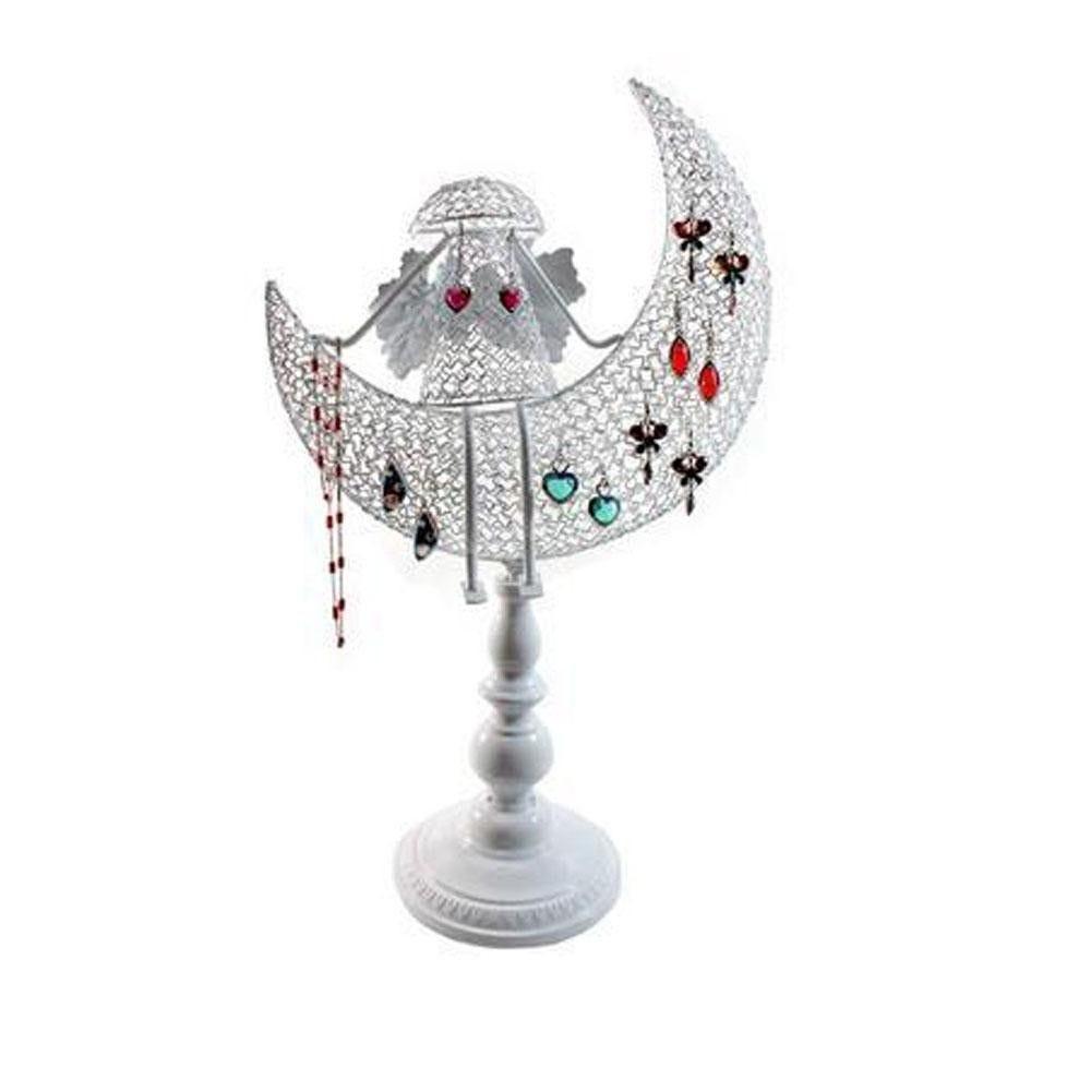Porte bijoux ange décoratif pour boucle d'oreille et chaines blanc