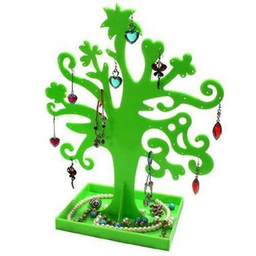 Porte bijoux arbre à boucle d'oreille et bijoux garden tree vert (photo)