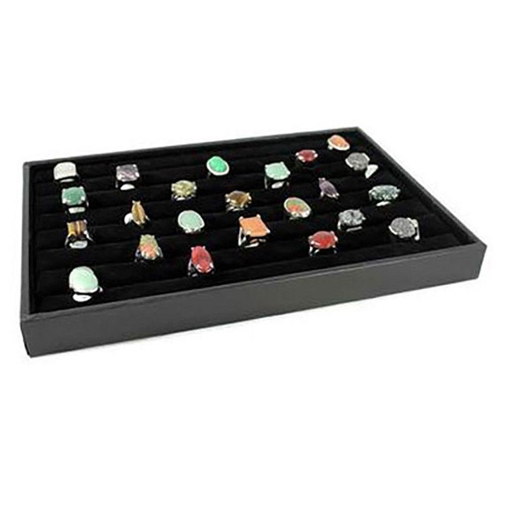 Porte bijoux porte bague plateau bijoux en velours noir