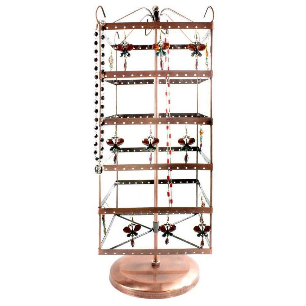Porte bijoux grand manège à boucles d'oreilles generoso (144 paires) cuivre (photo)