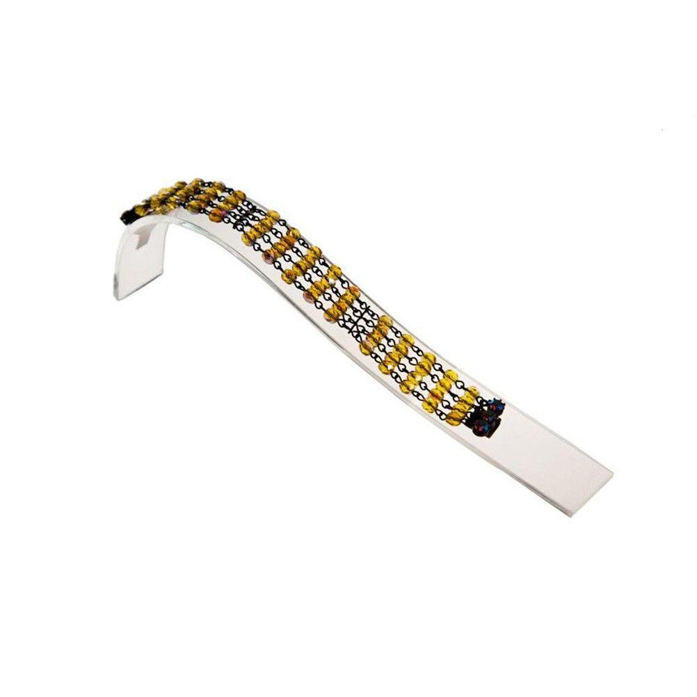 Porte bijoux support bracelet toboggan en acrylique transparent (photo)
