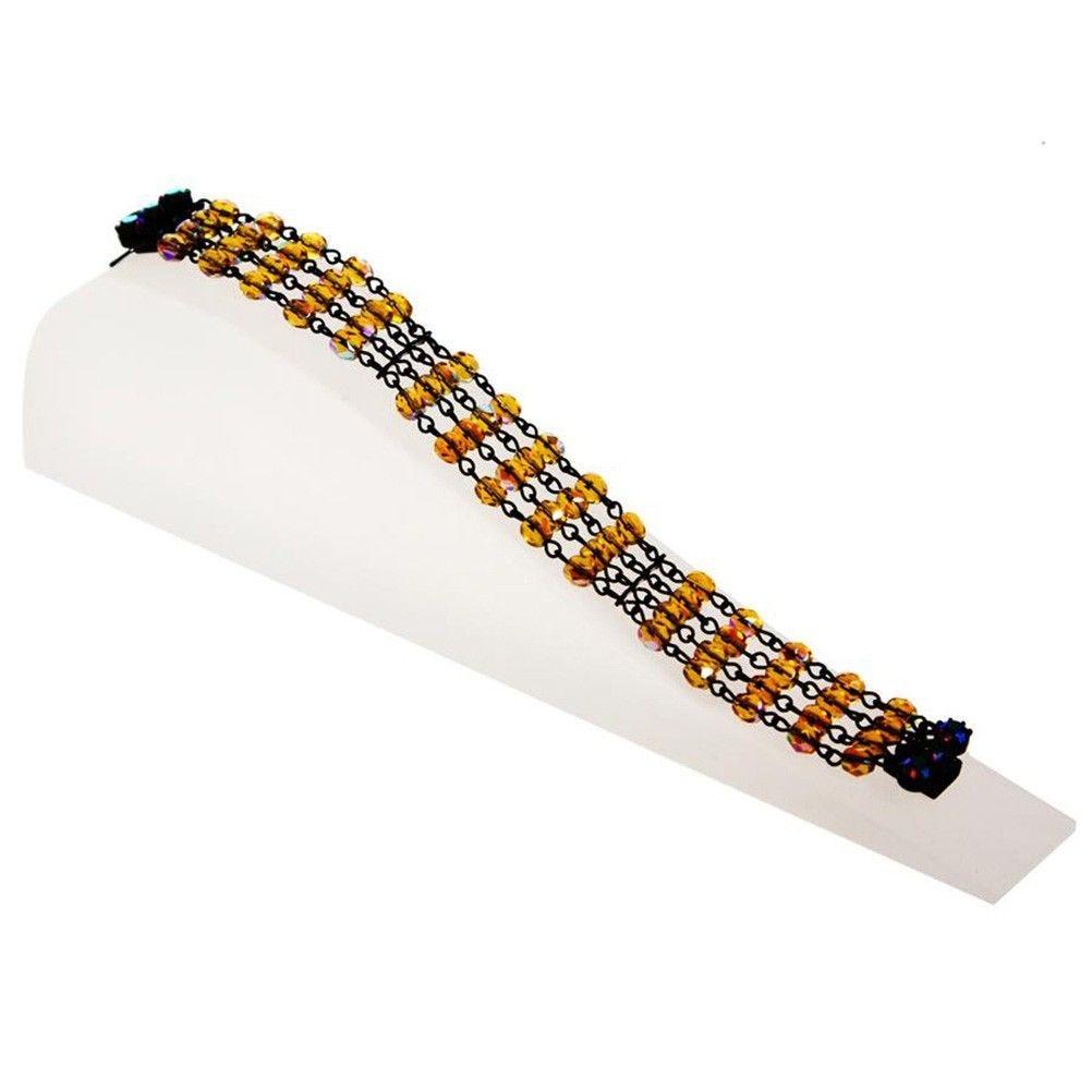 Porte bijoux support bracelet toboggan plein en acrylique translucide (photo)
