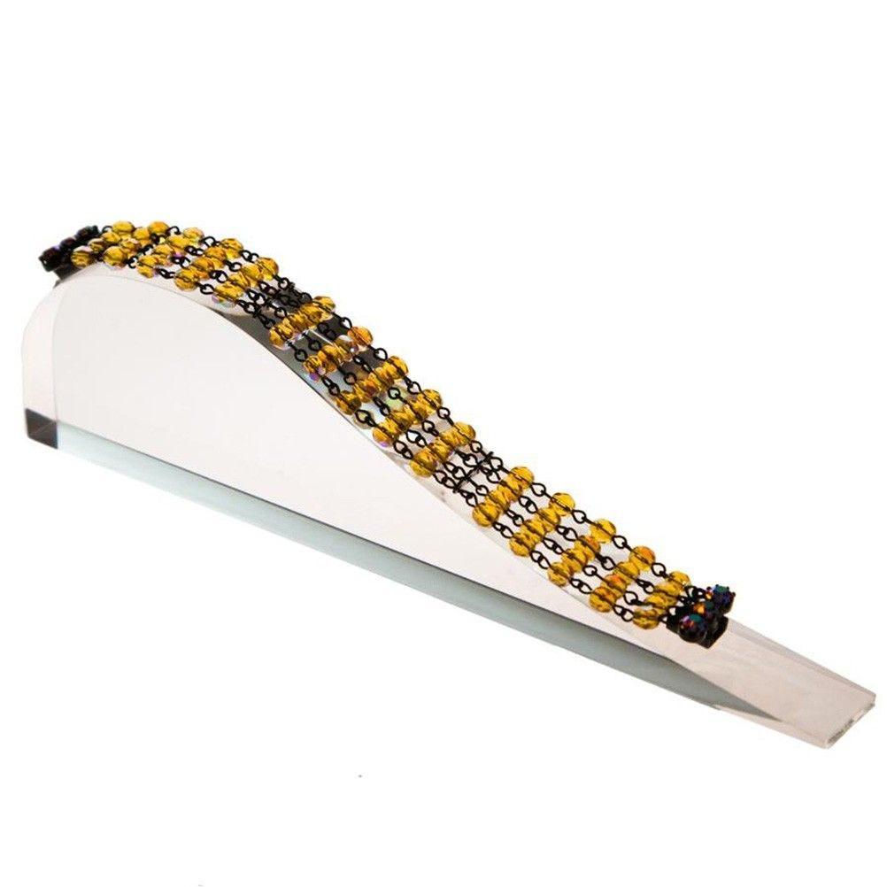Porte bijoux support bracelet toboggan plein en acrylique transparent (photo)