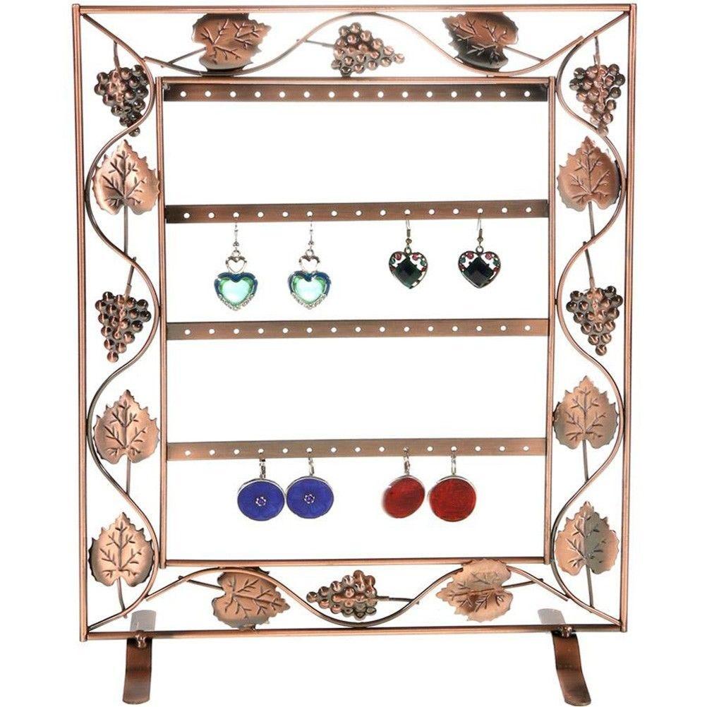 Porte bijoux cadre porte boucle d'oreille vignes (28 paires) cuivre (photo)