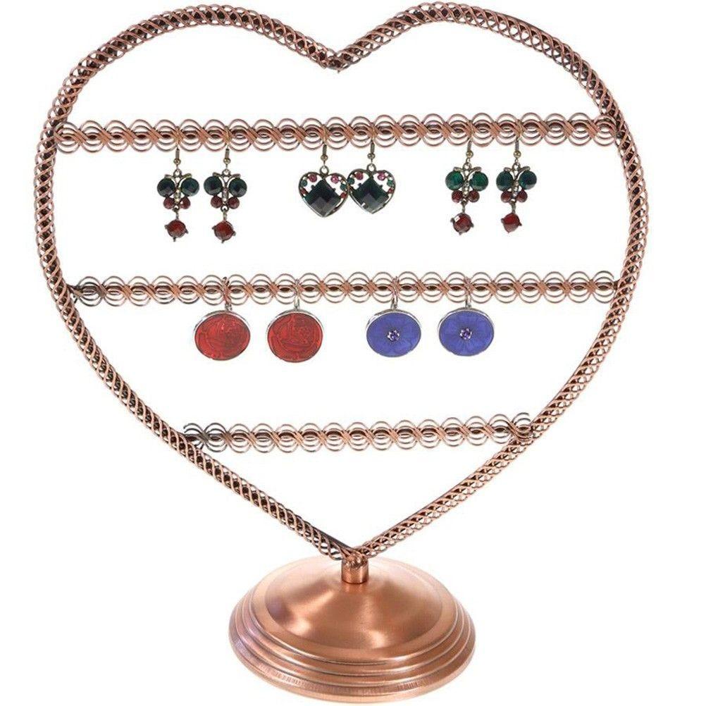 Porte bijoux porte boucle d'oreille amour (25 paires) cuivre