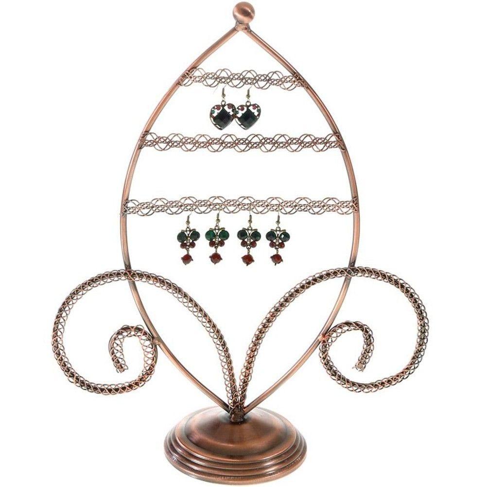 Porte bijoux porte boucle d'oreille amande cuivre