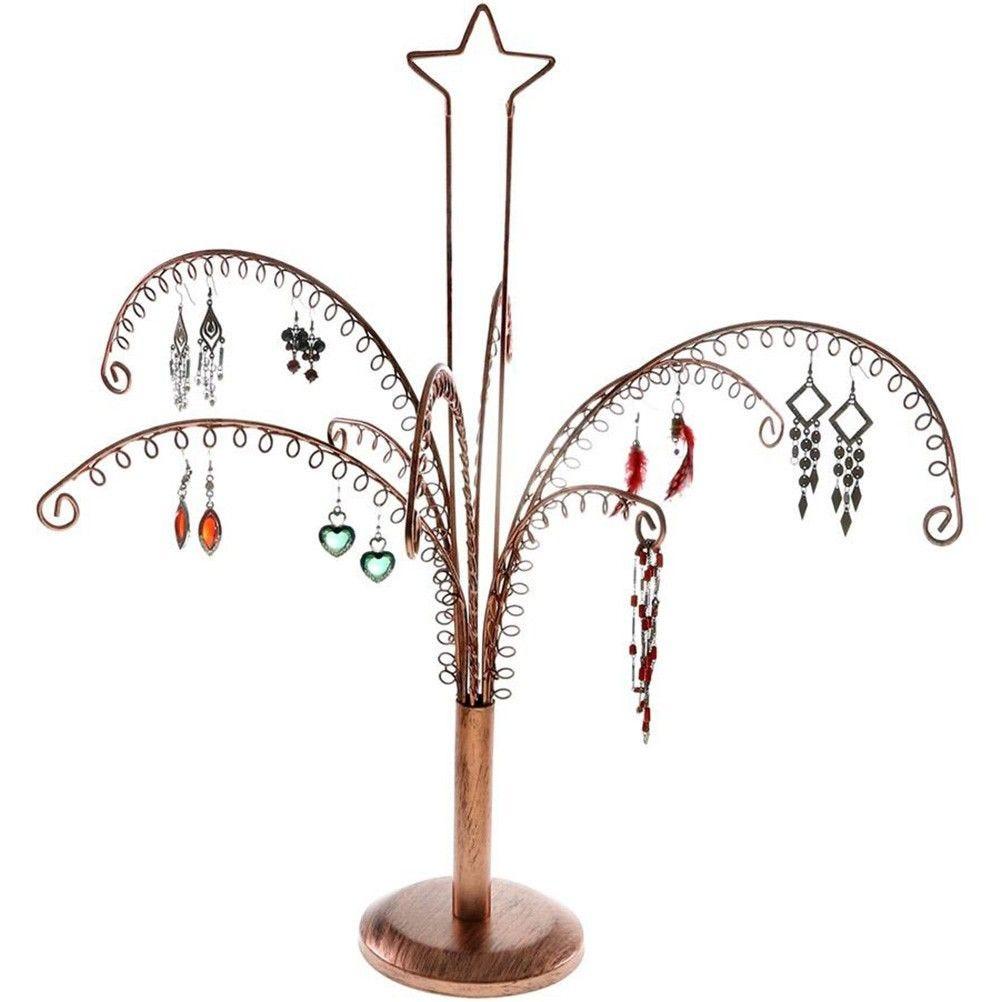 Porte bijoux arbre à boucle d'oreille (90 paires) cuivre