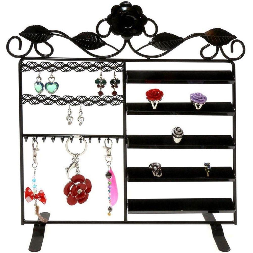 Porte bijoux lorraine bracelet bague boucle noir