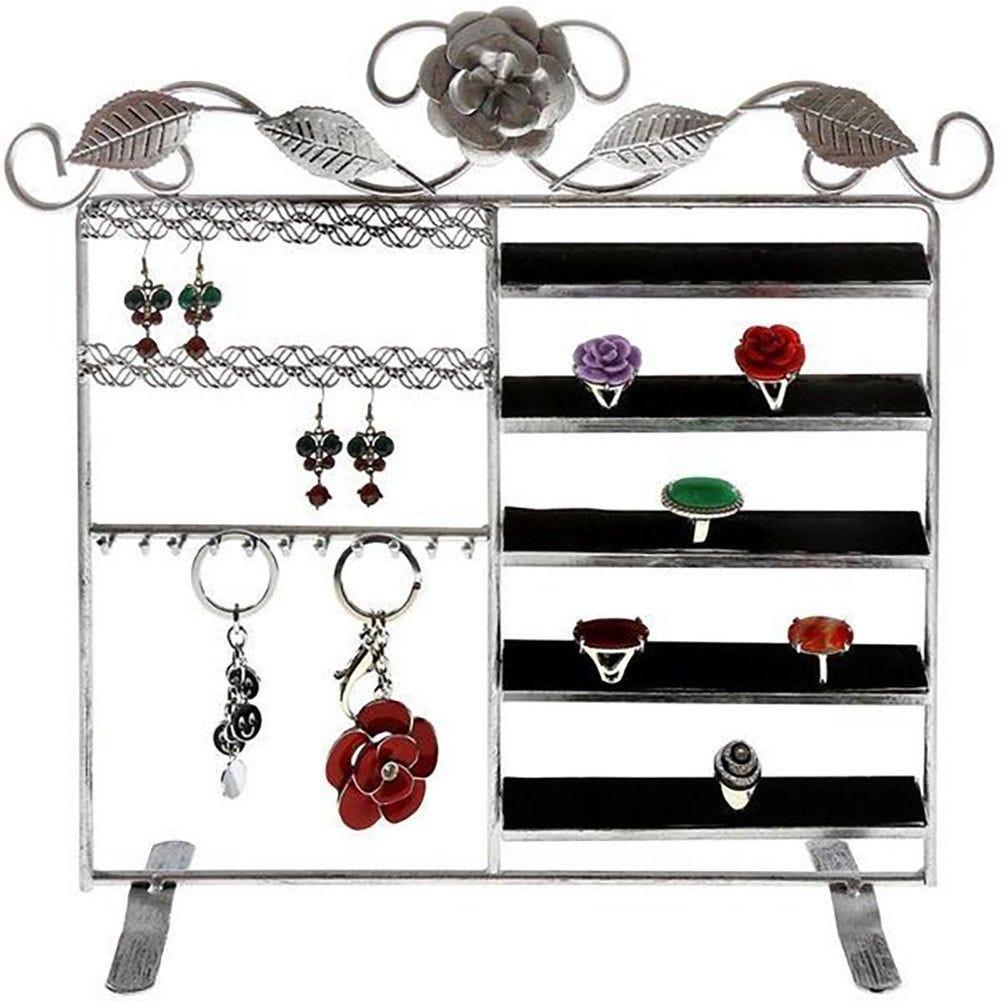 Porte bijoux lorraine bracelet bague boucle gris