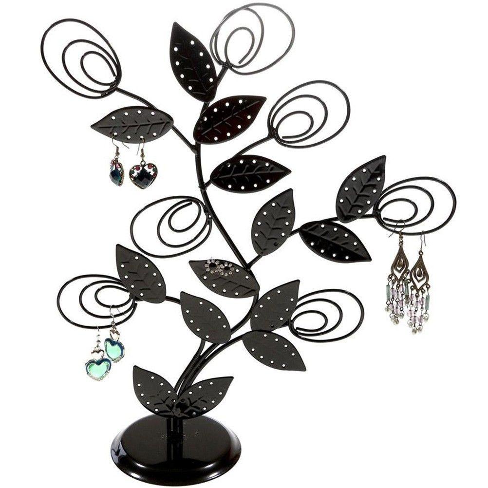Porte bijoux arbre à boucle d'oreille original tree (60 paires) noir (photo)