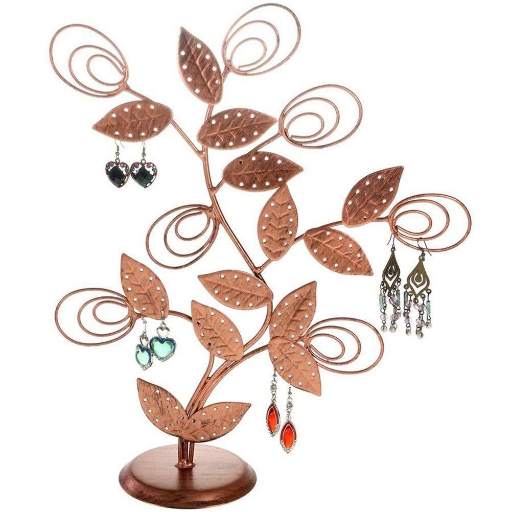 Porte bijoux arbre à boucle d'oreille original tree (60 paires) cuivre patiné (photo)